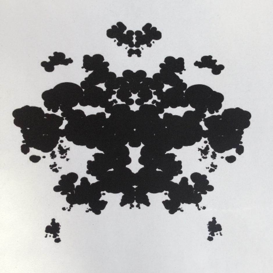 'Rorschach' style ink splot