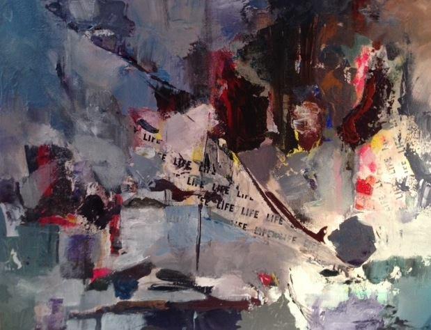 "'Untitled' 14""x18"" Acrylic on Canvas"